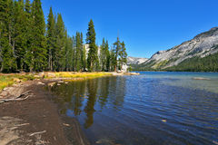 The mountain lake on pass Tioga Royalty Free Stock Images