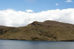 Mountain lake in the Antisana Ecological Reserve, Ecuador Royalty Free Stock Photos