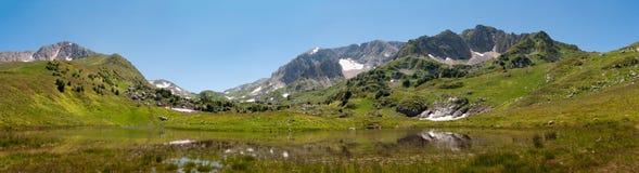 Mountain lake Psenodah landscape Royalty Free Stock Images