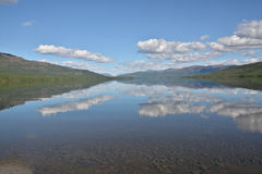 Mountain lake in the Putorana plateau. Stock Photo