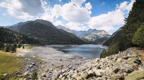 Mountain lake in the Pyrenees in the south of France Royalty Free Stock Photography