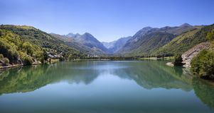 Mountain lake in the Pyrenees in the south of France Royalty Free Stock Image