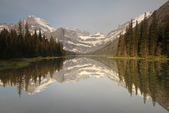 Mountain lake reflection Stock Photos