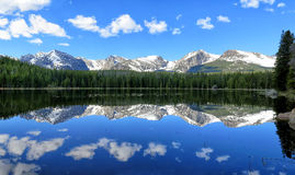 Mountain Lake Reflection on a beautiful Summer day Stock Photos