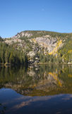 Mountain Lake Reflection in Fall Royalty Free Stock Images