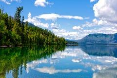 Mountain Lake Reflections. Lake McDonald inside Glacier National Park Royalty Free Stock Images