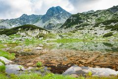 Mountain lake in Retezat, Romania, Europe Royalty Free Stock Image