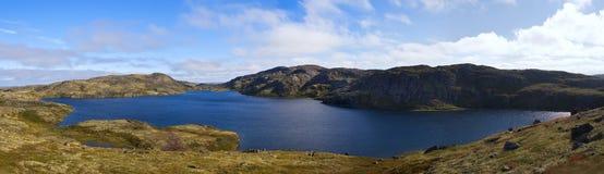 Mountain lake on the ridge Musta Tunturi Stock Photos