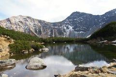 Mountain lake Rohacske pleso in Roháče, Western Tatras Stock Photo