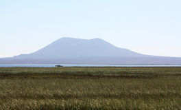 Mountain and Lake. Of San Quintin, Baja California, Mexico Royalty Free Stock Image