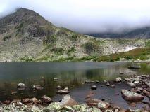 Mountain lake. The Lake in Sayan, Krasnoyarsk Krai, Siberia, Russia Royalty Free Stock Photography
