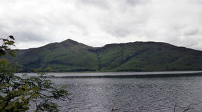 Mountain Lake Scenery Along The A82 in Scotland Royalty Free Stock Photography