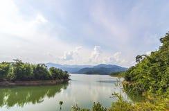 Mountain with lake Stock Photos