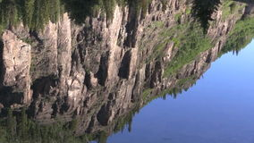 Mountain Lake Scenic Reflection. A scenic reflection in a Colorado mountain lake stock footage