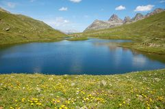 Mountain Lake (Scheidseen). Wondeful lake (Scheidseen) in the austrian alpes Stock Photography