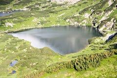 Mountain lake. Shape of heart. Stock Photos