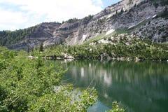 Mountain Lake. Silver Lake, American Fork Canyon, Utah Stock Image
