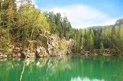 Mountain lake Skalne Mesto Adrspach  Stock Photography