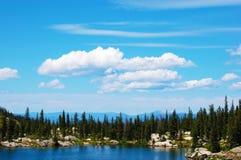Mountain Lake and Sky Royalty Free Stock Photo