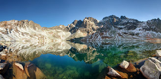 Mountain lake in Slovakia Tatras - Hincovo pleso Royalty Free Stock Images