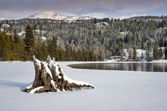 Mountain Lake with snow Winter Stock Photos