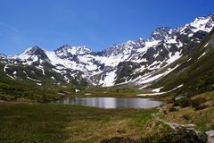 A mountain lake in South Tyrol Royalty Free Stock Photography