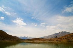 Mountain lake, Spiti, Himachal, India Royalty Free Stock Photo