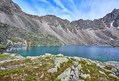Mountain Lake at a sports pass Royalty Free Stock Photography