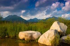 Mountain lake Strbske pleso, High Tatras, Slovakia Royalty Free Stock Photo