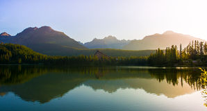 Mountain lake Strbske pleso, High Tatras, Slovakia Stock Images