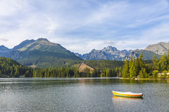 Mountain lake Strbske pleso, High Tatras, Slovakia Royalty Free Stock Image