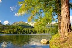 Mountain lake Strbske pleso - Slovakia, Europe Royalty Free Stock Photography