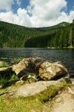 Mountain lake in Sumava Royalty Free Stock Images