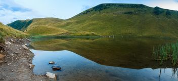 Mountain lake summer clean water Royalty Free Stock Photography