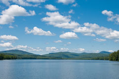 Mountain Lake on a Summer Day. A Beautiful Lake on a Summer Day royalty free stock photography