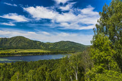 Mountain lake. In summer day Stock Images