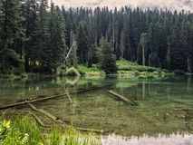 Mountain lake in the summer Stock Photos