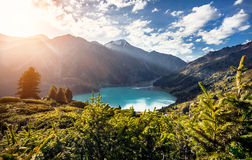 Mountain Lake at sunrise Royalty Free Stock Photos