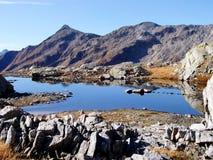 Mountain Lake Swiss Alps stock photo