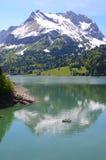Mountain lake. Switzerland Royalty Free Stock Images