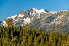 Mountain at Lake Tahoe in California. USA Stock Photo