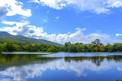 Mountain lake in thailand Royalty Free Stock Images
