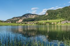 The mountain lake Thiersee in Tyrol, Austria Royalty Free Stock Images