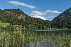 The mountain lake Thiersee in Tyrol, Austria Stock Photography