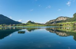 The mountain lake Thiersee in Tyrol, Austria Stock Images