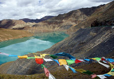 Mountain lake. Tibet Stock Images