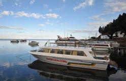 Mountain lake Titicaca Royalty Free Stock Image