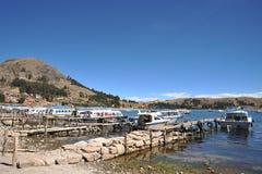 Mountain lake Titicaca Royalty Free Stock Photo