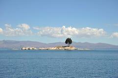 Mountain lake Titicaca Stock Photo