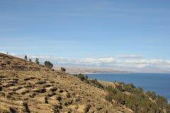 Mountain lake Titicaca Stock Photography